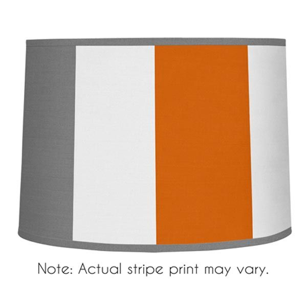 sweet jojo designs grey and orange fabric stripe collection large lamp shade