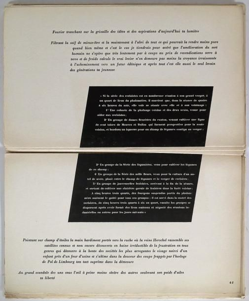 """BRETON, André  Ode à Charles Fourier. (Paris, Éditions de la Revue Fontaine, Collection """"L'Âge d'Or"""", 1er février 1947)."""