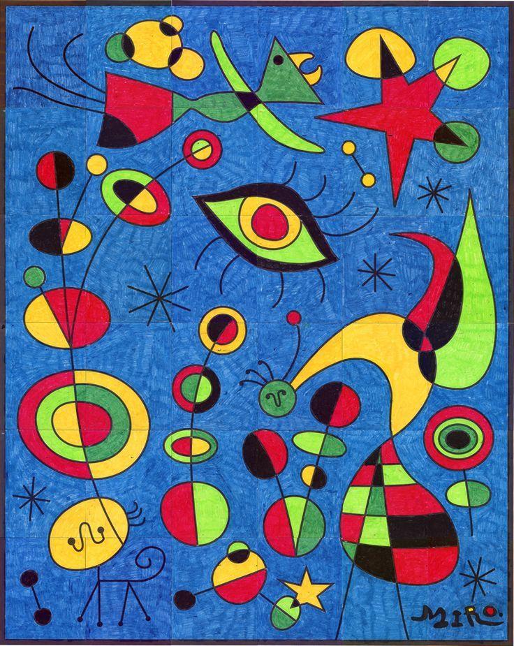 Joan Miro Mural School And Teaching Ideas Pinterest