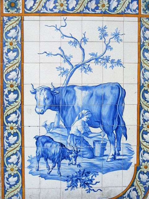 Lisbon Azulejos - Portugal- awwww...lovely memories of wayyyy back when....