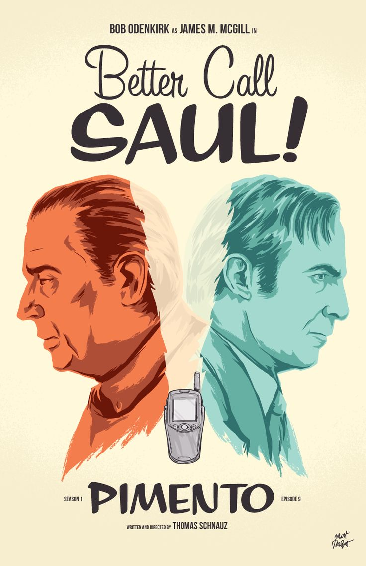 Here's my poster for Better Call Saul episode 9, Pimento. Brilliant episode. The last scene was heartbreaking.I'm drawing posters for each episode of Better Call Saul this season, and you can see the rest here.