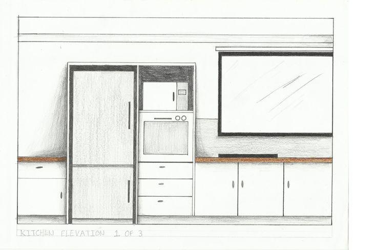 Kitchen Elevation 1 of 2- Rendered