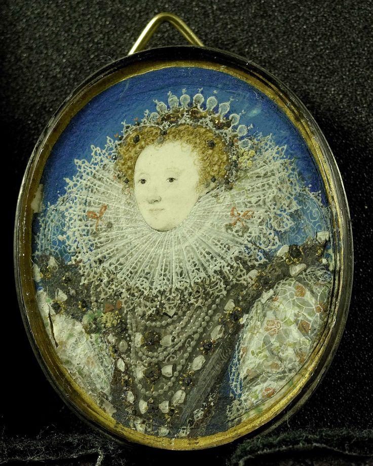Elizabeth I (1533-1603), koningin van Engeland, door: Nicholas Hilliard, 1557 - 1619.