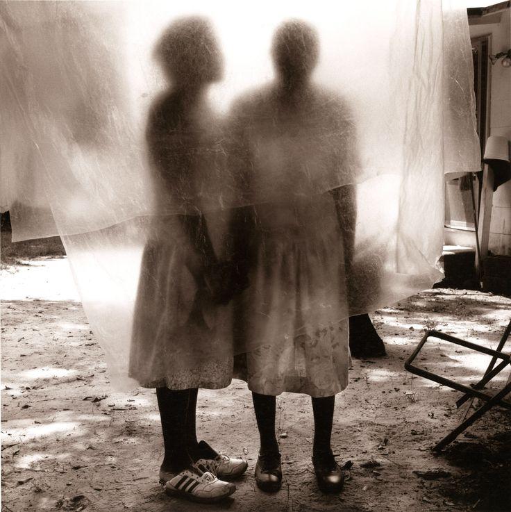 Gladys Mother behind clothesline
