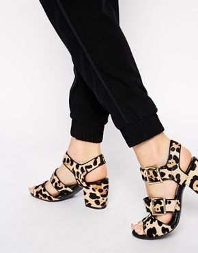 New Look Wide Fit Preview Faux Ponyskin Heeled Sandals 66