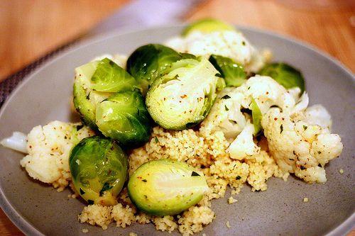 Cauliflower and Brussels Salad.