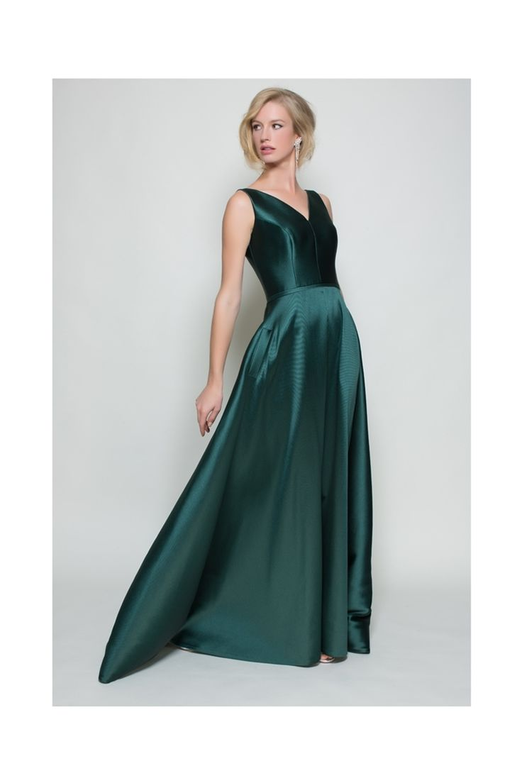 Dress for Women, Evening Cocktail Party On Sale, Green, polyester, 2017, 8 Essentiel