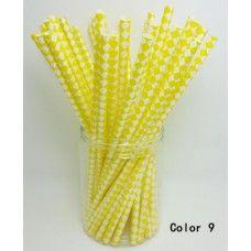 Papírová brčka - žluté