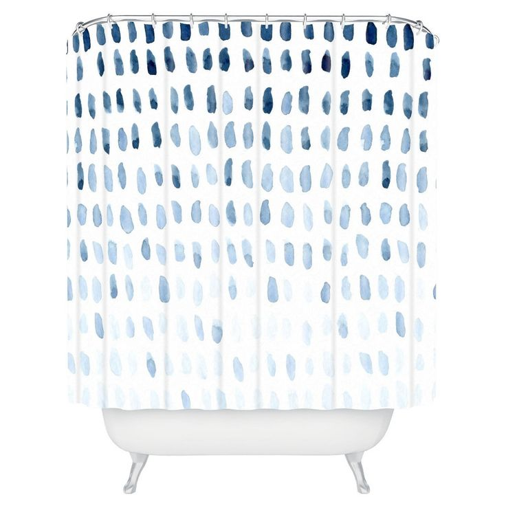 "Proof of Life Shower Curtain - Blue (71"" x 74"") - Deny Designs"