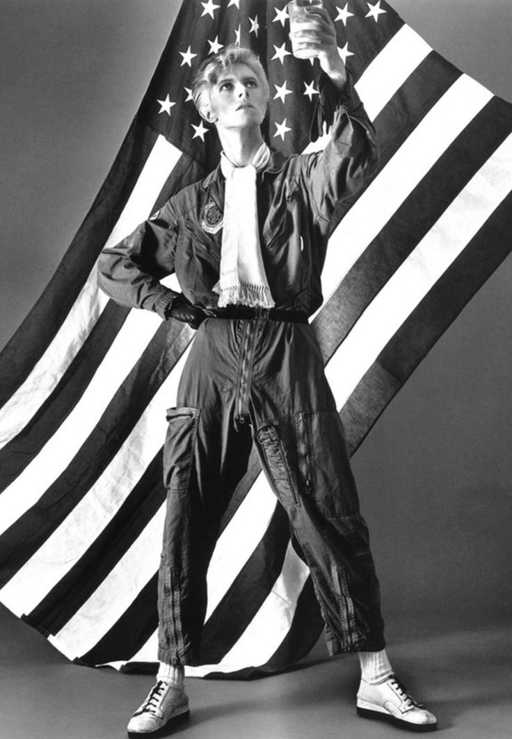 David Bowie, very alternate take for the cover of Young Americans, 1974, by Eric Stephen Jacobs