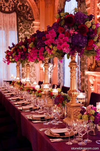17 best images about jewel tone weddings on pinterest for Wedding reception centrepieces