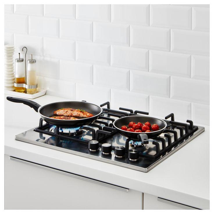 IKEA - KAVALKAD Frying pan, set of 2 black