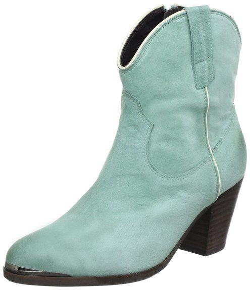 Billi Bi Copenhagen 5211543, Damen Cowboy Stiefel, Grün (Mint 5045 suede/offwhite), EU 41: Amazon.de: Schuhe & Handtaschen