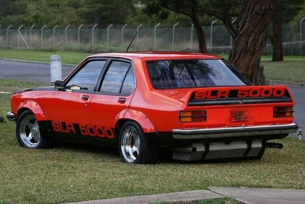 1978 Holden Torana SLR 5000 The Torana came in many trims but the one we'll remember most is the SLR 5000. Made to accommodate an even bigger V8 engine, it featured wild slot-car body style and wide fender flares. The colour combination also made this particular Torana a highly sought after model.