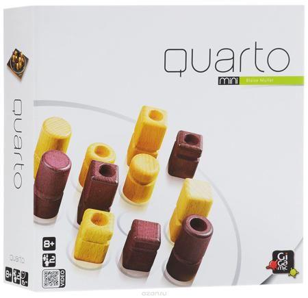 """Gigamic Настольная игра Кварто мини-версия  — 1555.1 руб.  —  Настольная мини-игра """"Кварто"""" (Quarto Mini) - это прекрасный способ времяпрепровождения, такое развлечение придется по душе, как взрослым, так и детям. Суть игры заключается в следующем: в игре присутствует 16 фигур, отличающихся четырьмя признаками, ваша задача - собрать ряд из четырех фигур, хотя бы с одним общим признаком. Это может быть ряд из светлых фигур или из темных, из низких или высоких, из фигур с выемкой или фигур без…"""