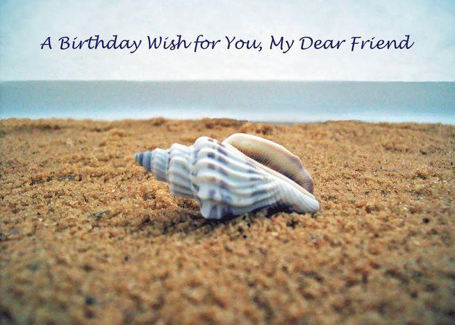 Birthday Wish For Dear Friend Seashell