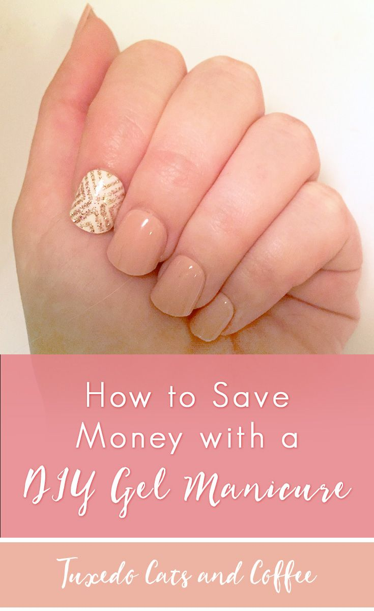 """A while back I decided to try out the whole """"gel manicure"""" thing for a dinner party with friends by getting one of those nail kits from Target. I didn't really want to fork over $40+ for a special drying lamp to do an actual gel manicure, so here's how to save money with a DIY gel manicure. #diymanicure #gelmanicure #diygelmanicure #manicureathome"""