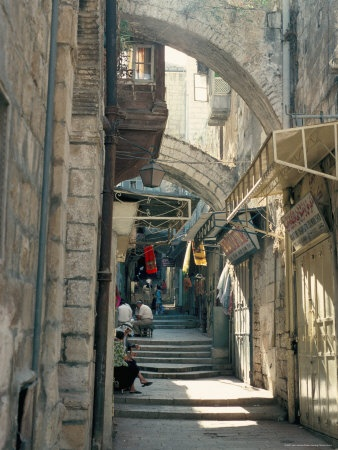 Via Dolorosa, Old City, Unesco World Heritage Site, Jerusalem, Israel,
