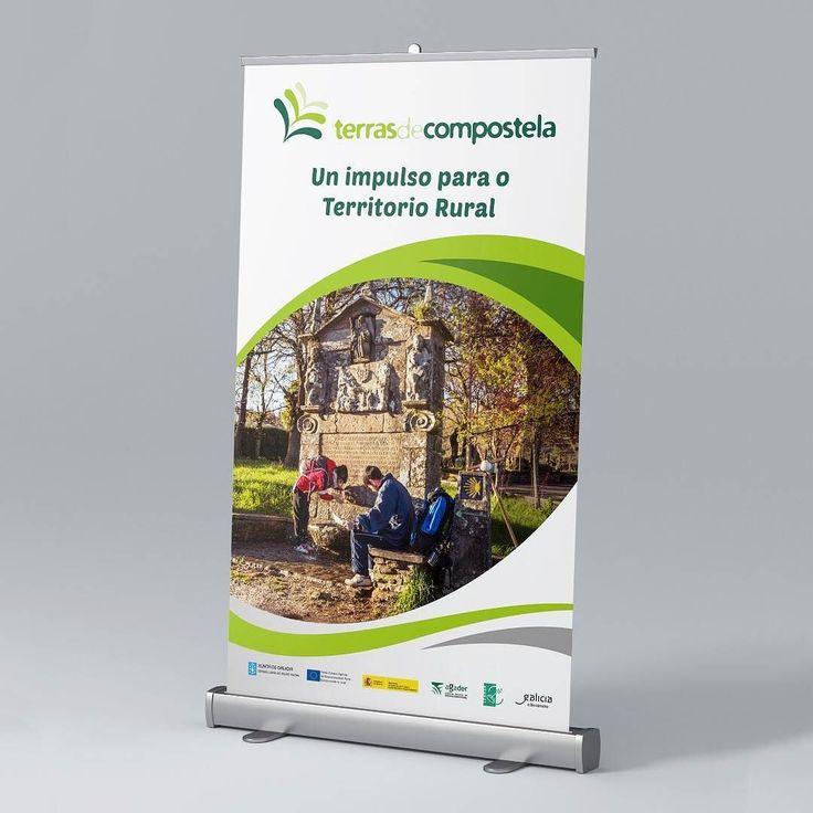 Nuevo roll up para el GDR Terras de Compostela #diseñoGalicia #galiciaDiseño #Yeti #galiciaCalidade #galicia #diseño #comunicacion #love #vedra #santiagoDC #trabajoBienHecho #imagenCorporativa #instagood #happy #swag #design #graphicDesign #amazing #bestOfTheDay #art #creatividad #creative #rollup #publicidad #rural #compostela #asociacion