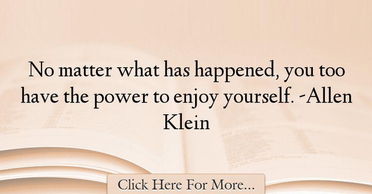 Allen Klein Quotes About Power - 56495