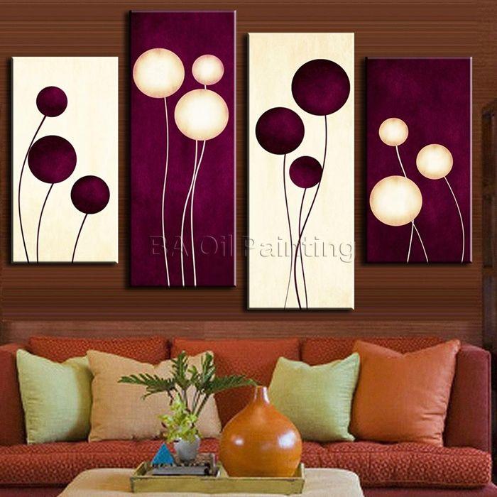 cuadro de flores abstractas en circulos - Buscar con Google