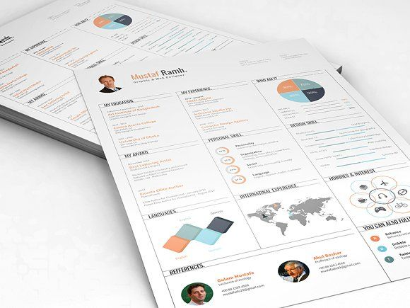 Infographic Resume by DesignGhor on @creativemarket