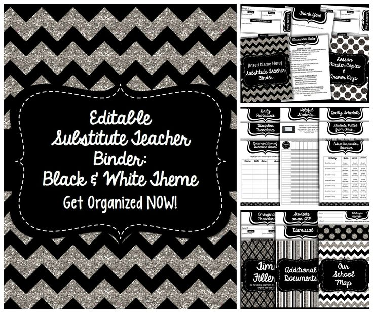 This is an editable substitute teacher binder that will help you prepare for those much needed days off!