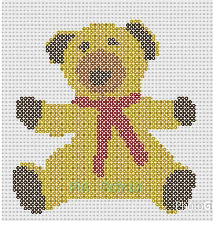 Bamse fra Bamse og Kylling. Mon ikke det kunne bruges som strikke-diagram. I wonder if I could use this as a knitting chart.