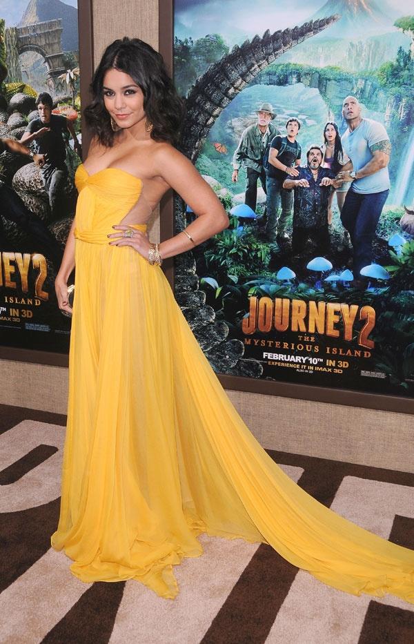 Vestidos de fiesta amarillos #vanesahudgens #boda #vestidos
