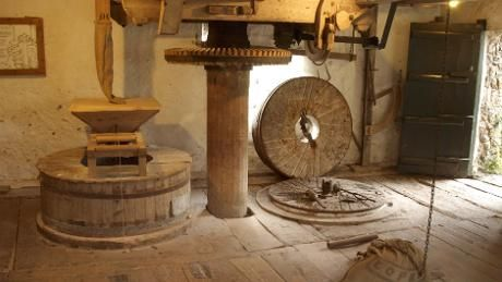 Explore the interior of the mill at Branscombe