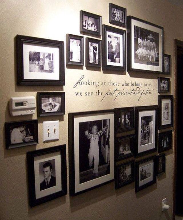 Photo Wall with Quote