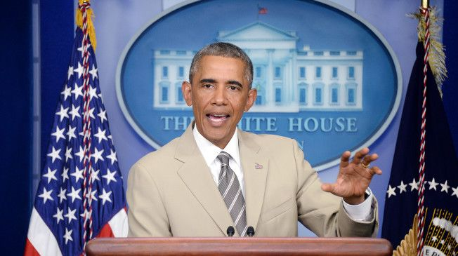 Rep. Peter King Is Angry President Obama Wore A Tan Suit IT'S OFFICIAL, WE NEED TO RETIRE THE GOP BECAUSE THEY ONLY CARE ABOUT ABORTIONS AND A TAN SUIT! http://talkingpointsmemo.com/livewire/president-obama-peter-king-tan-suit-rant