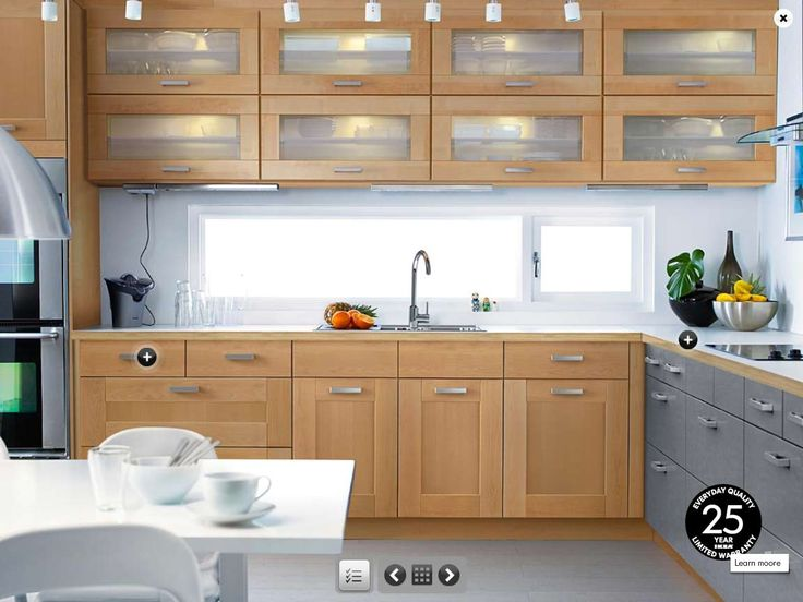 Spectacular ikea light wood kitchen for my imaginary holiday cabin