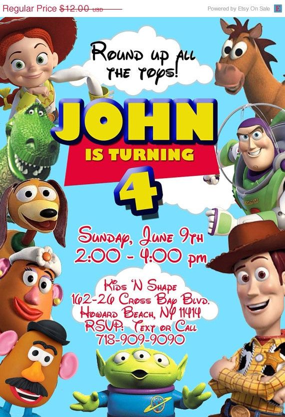 Toy Story Birthday Invitation  on Etsy, $10.00