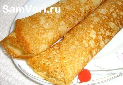 тонкие блины на кефире / thin pancakes on kefir