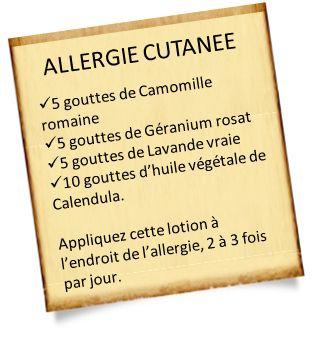 Soigner une allergie cutanée avec les huiles essentielles.                                                                                                                                                                                 Plus