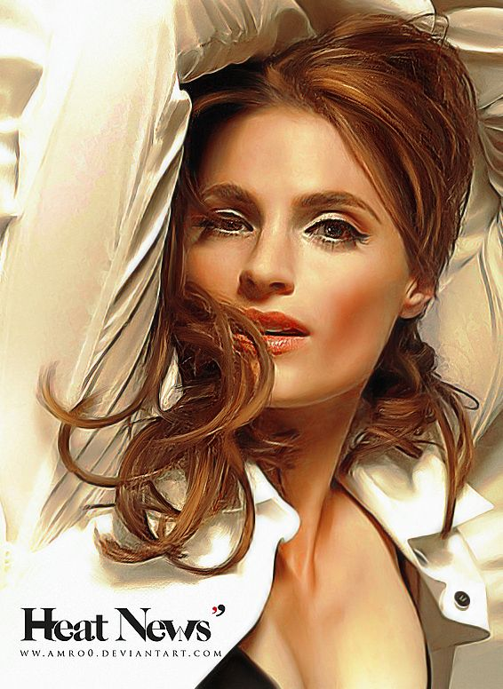 Heat News - France issue 7 / Stana Katic by Amro0 on deviantART