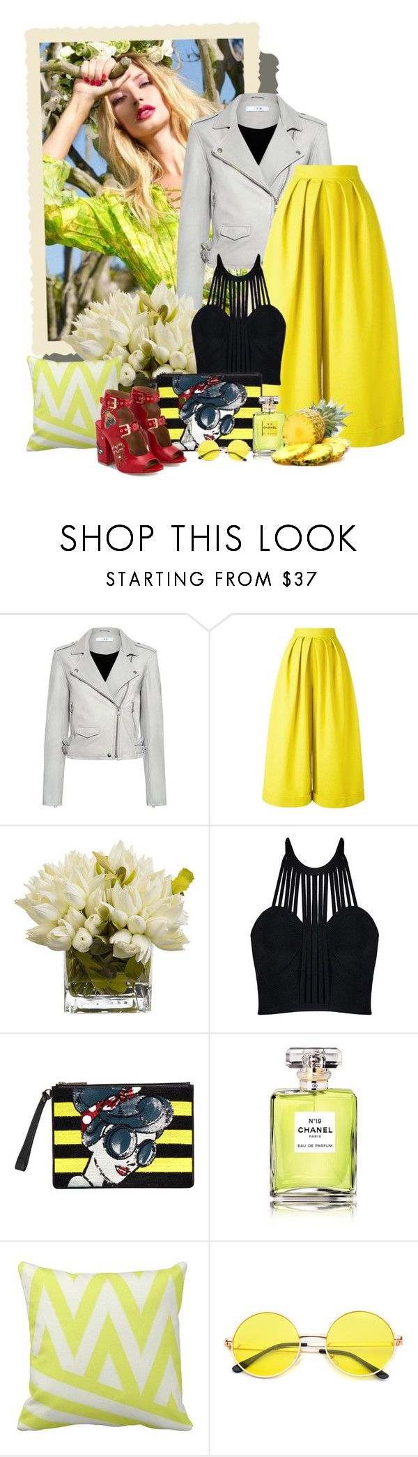 """""""желтые тюльпаны"""" by www-gufi ❤ liked on Polyvore featuring IRO, Delpozo, Alice + Olivia, Chanel and Laurence Dacade"""