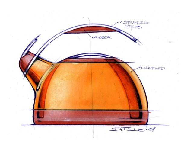 Sketches of kitchenware #id #design #product #sketch