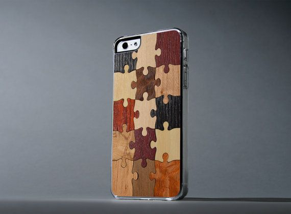 Puzzle+iPhone+5/5s+Wood+Clear+Case++FREE+by+carvedproducts+on+Etsy,+$29.00
