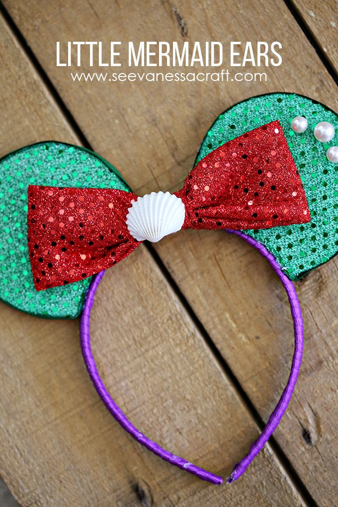 DIY ~ Disney Little Mermaid Ears ~ via this blog, See Vanessa Craft.