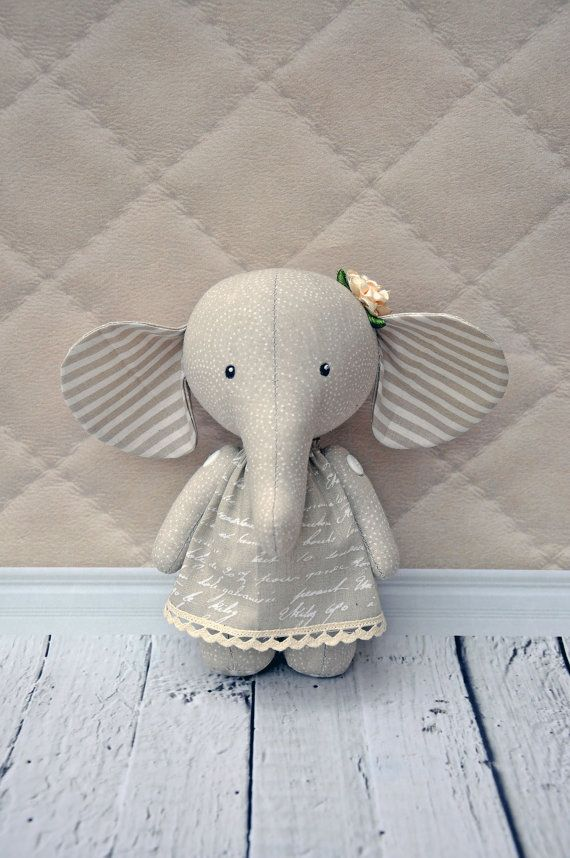 elephant pdf pattern, PDF Plush elephant, stuffed elephant, Soft Animal, Animal toy, сloth toyPattern and tutorial for sewing of the elephant  I want to present master class of a toy elephant  This master class is aimed for people, who have already sewn toys. Difficulty: medium   The pattern is on A4 sheet of paper, elephants hight is approximately 20-22 cm (9). You will need a single colored cotton fabric for the body and the multi colored fabric for a dress    This master class includes…