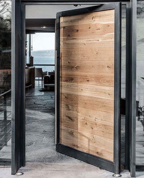 Portes d'entrée 2020 : 6 tendances pour vous inspirer | Entrée maison moderne, Portes en bois ...
