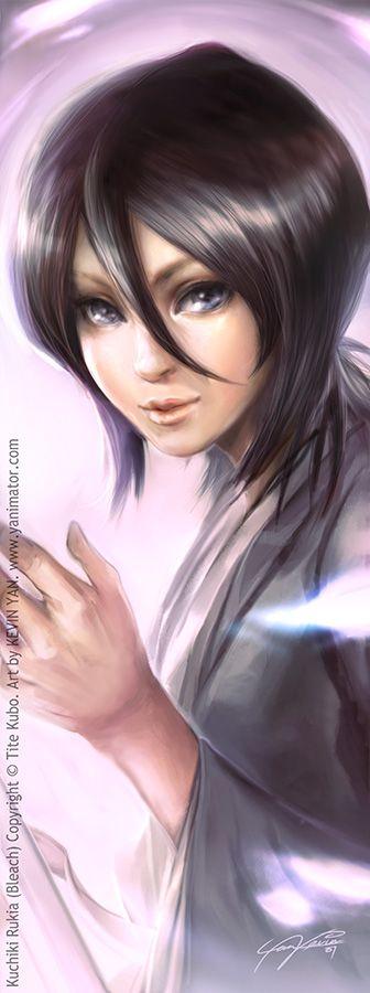 Bleach bookmark - Rukia by *yanimator  shes pretty