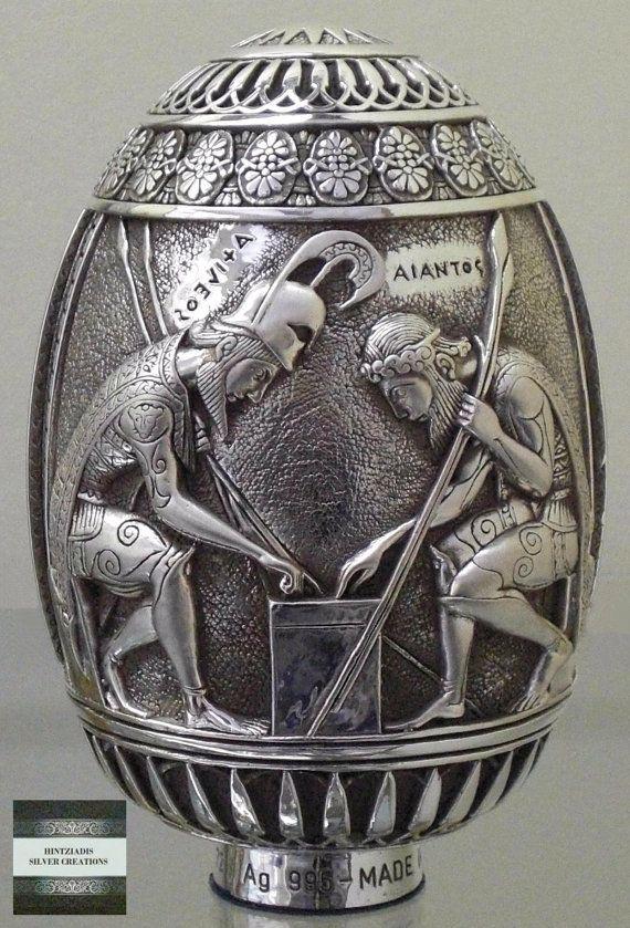 PANKRATION ACHILLES & AJAX. Handmade Silver by HintziadisCreations