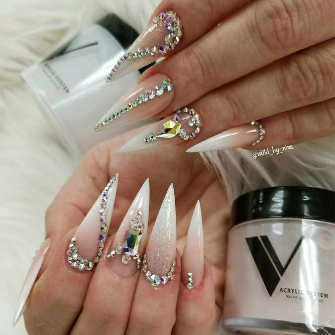 30 Pointy Nails Designs You Can T Resist To Copy Pointy Nail Designs Pointy Nails Trendy Nail Design