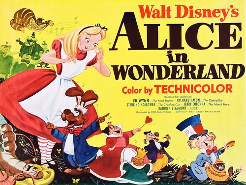 Vintage Disney Alice poster. | Alice's Adventures in ...