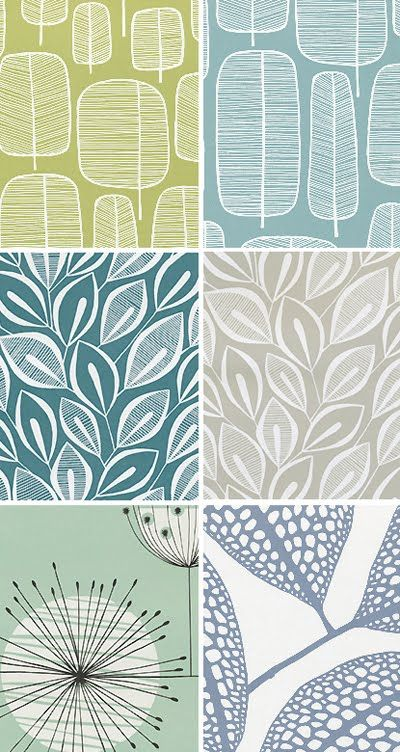 EW - Nice collection of leaves prints in subtle colours
