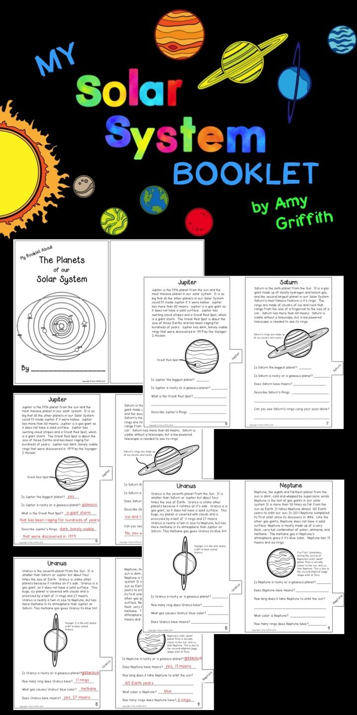 Students create their own tabbed Solar System Booklet while learning interesting facts about our Solar System.  A Key is included.  $