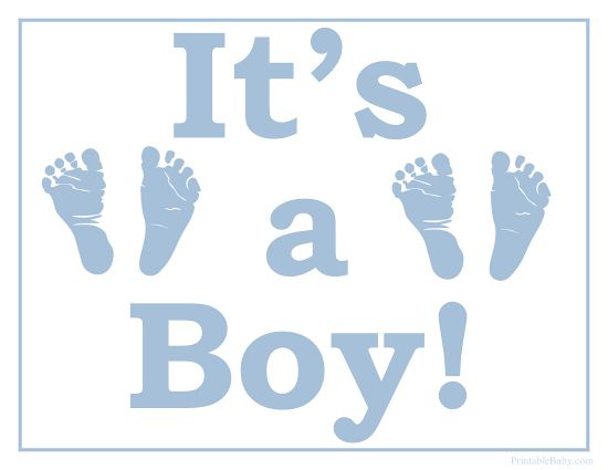 Printable It's a Boy Sign   Miscellaneous Baby Printables